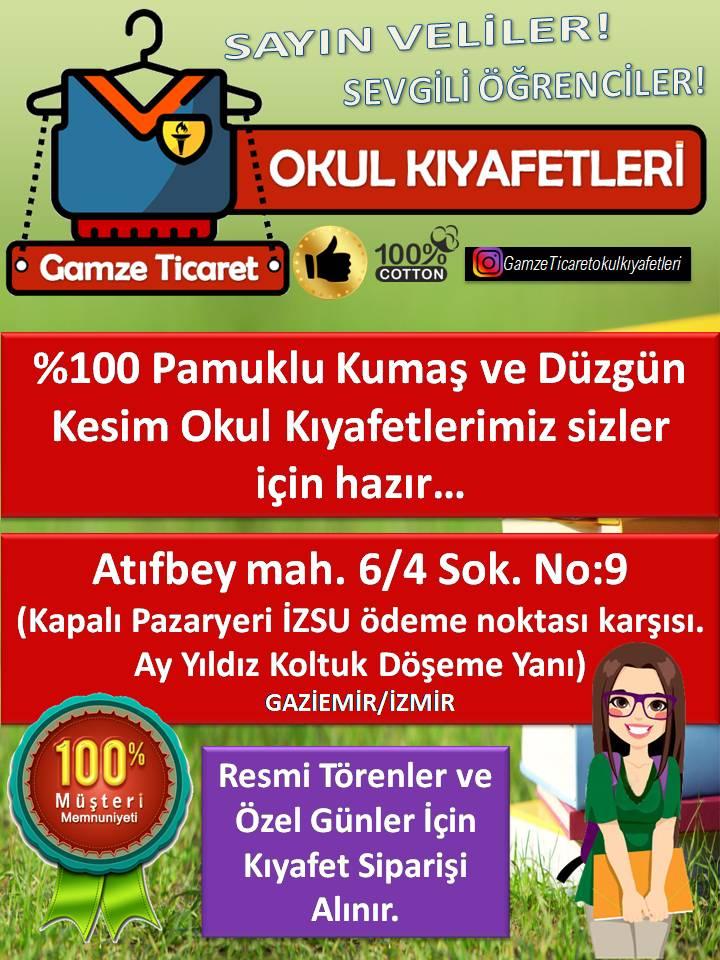 Gaziemir Anafartalar İlköğretim Okulu Okul Kıyafeti.